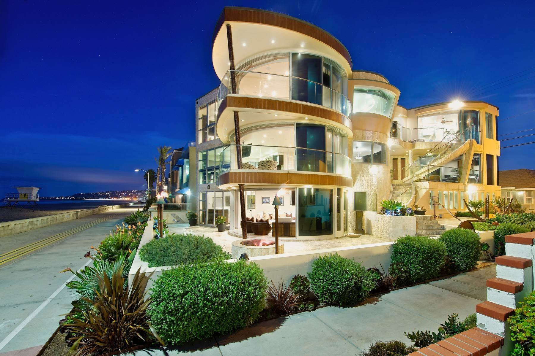 Single Family Homes for Sale at Architectural Masterpiece- Mission Beach 3671-75 Ocean Front Walk San Diego, California 92109 United States