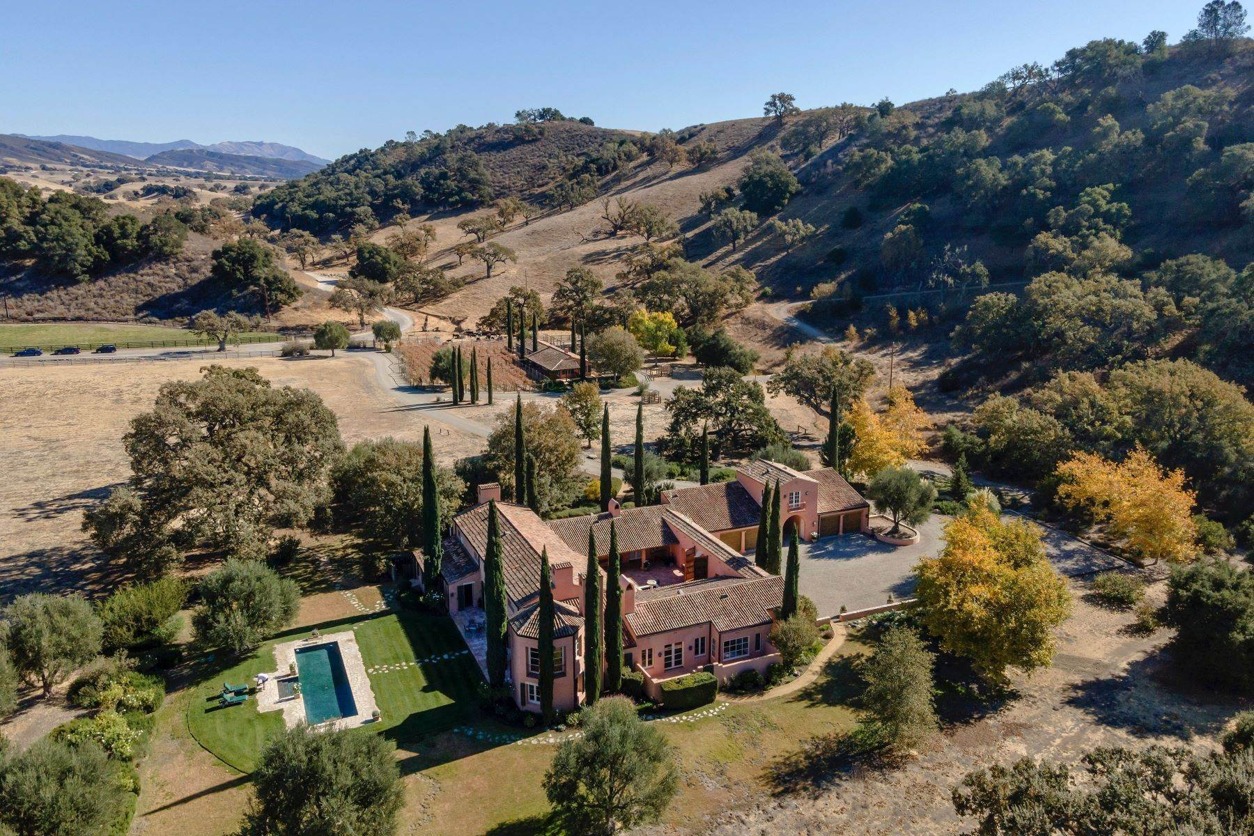 Single Family Homes for Sale at Happy Canyon Villa on 102+/- acres 1155 Alisos Road Santa Ynez, California 93460 United States